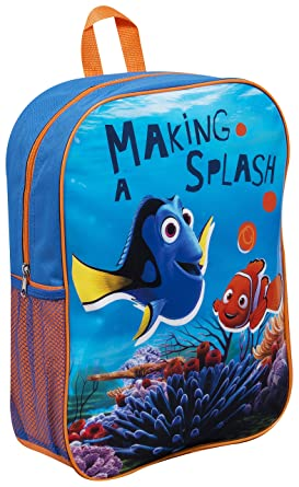 57eb61d33b3 Disney Pixar Licensed Finding Nemo Large Kids Backpack With Side bottle  pocket  Amazon.co.uk  Clothing