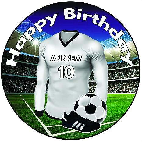 Remarkable Ak Giftshop Personalised Football Birthday Cake Topper 8 20Cm Funny Birthday Cards Online Elaedamsfinfo