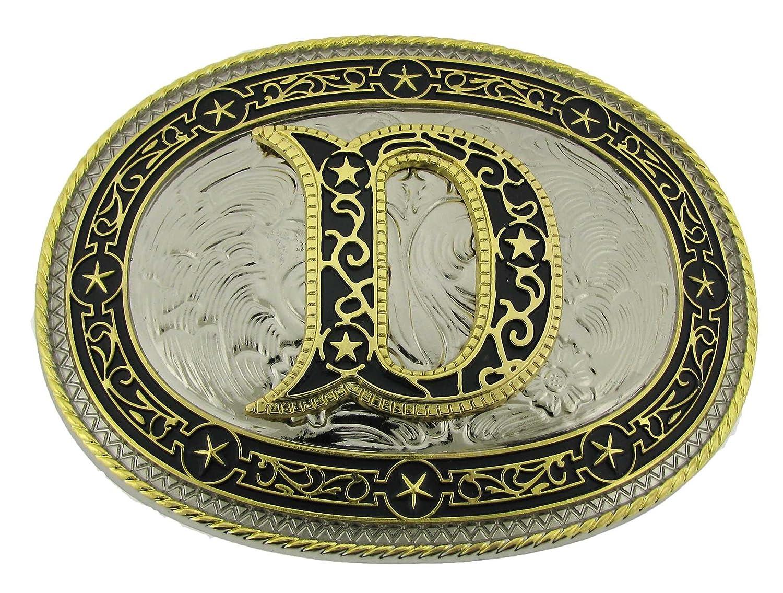 - Initial D Belt Buckle Monogram Alphabet Letters