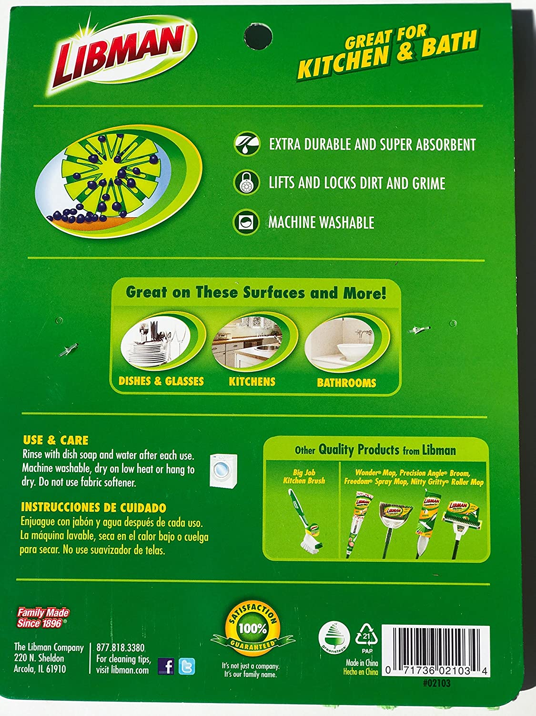 Amazon.com: (2) Libman Scrub Dots Sponge Scrubbers Plus (3) Microfiber Quilted Sponge Cloths: Health & Personal Care