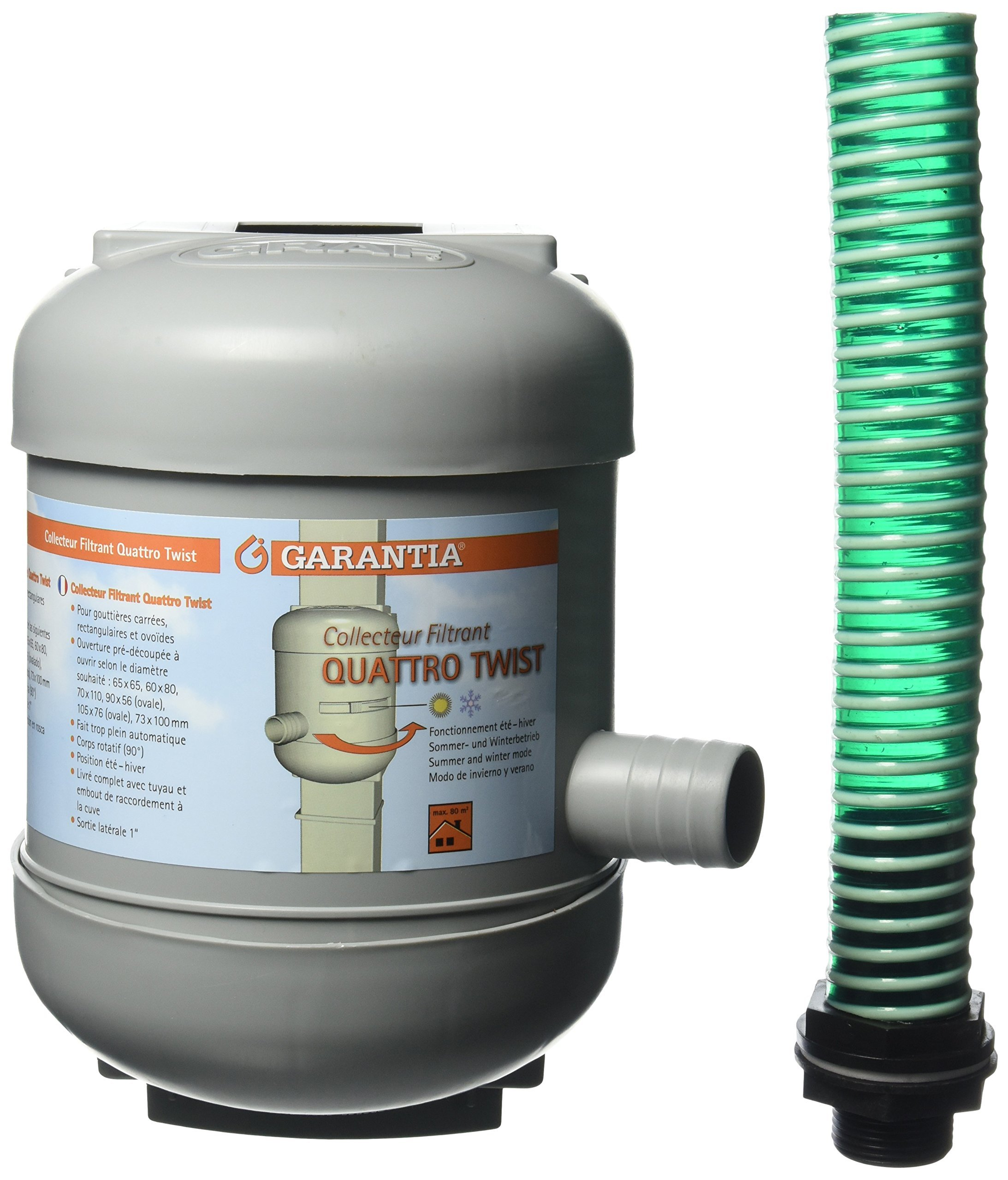 Tierra Garden 503050 Quattro Twist Downspout Filter, Grey
