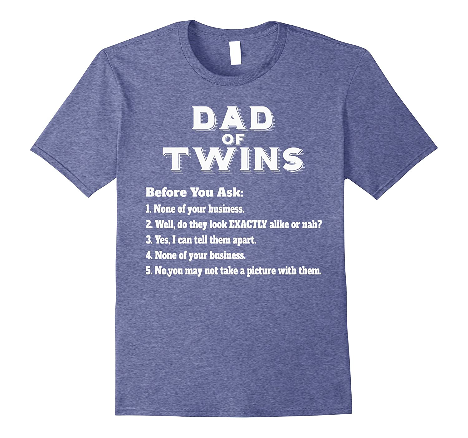 Mens Funny Twins Dad T-shirt for Father's Day Common Questions