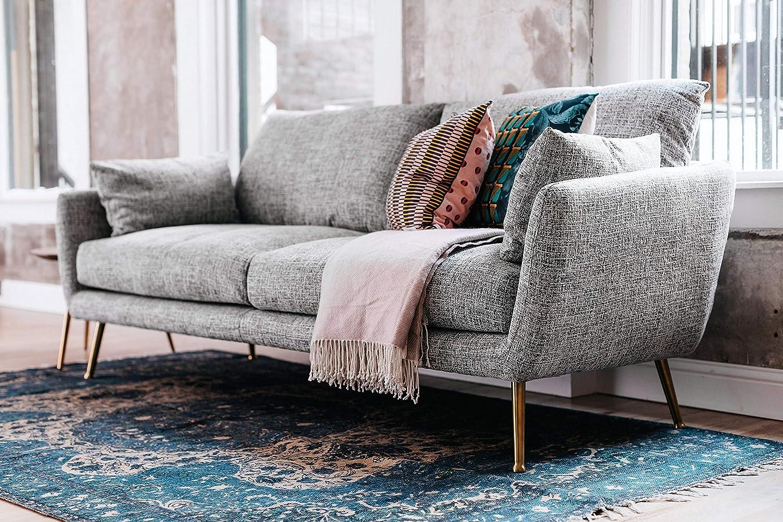 Remarkable Edloe Finch Midcentury Sofa 3 Seater Modern Couch Down Feather Cushions 82W X 35D X 35H Grey Frankydiablos Diy Chair Ideas Frankydiabloscom