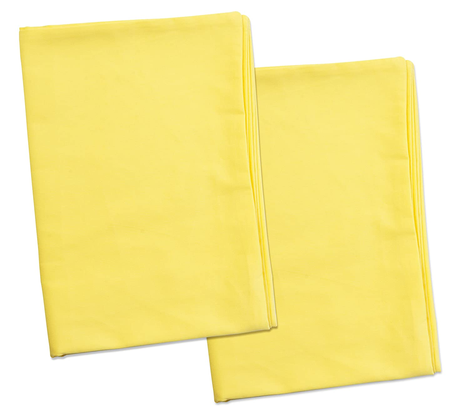 2 Yellow Toddler Pillowcases - Envelope Style - For Pillows Sized 13x18 and 14x19 - 100% Cotton With Percale Weave - Machine Washable - ZadisonJaxx ZacharyPaul Collection - 2 Pack Zadisonjaxx Pillow ZJTPC-ZPC-YP2P