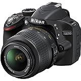 Nikon D3200 SLR-Digitalkamera (24 Megapixel, 7,4 cm (2,9 Zoll) Display, Live View, Full-HD) Kit inkl. AF-S DX 18-55 VR Objektiv schwarz