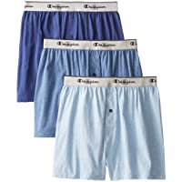 Champion Men's Knit Boxer, Pack of Three