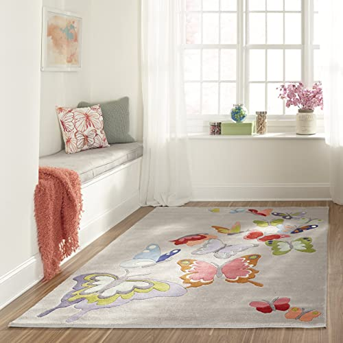 Momeni Rugs Lil Mo Whimsy Collection Area Rug, 5 0 x 7 0 , Grey