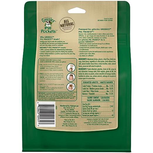 Amazon.com : GREENIES PILL POCKETS Capsule Size Dog Treats Cheese Flavor,  15.8 oz. Pack (60 Treats) : Pet Supplies