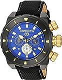 Invicta Men's 'Corduba' Quartz Stainless Steel and Nylon Casual Watch, Color:Black (Model: 22335)
