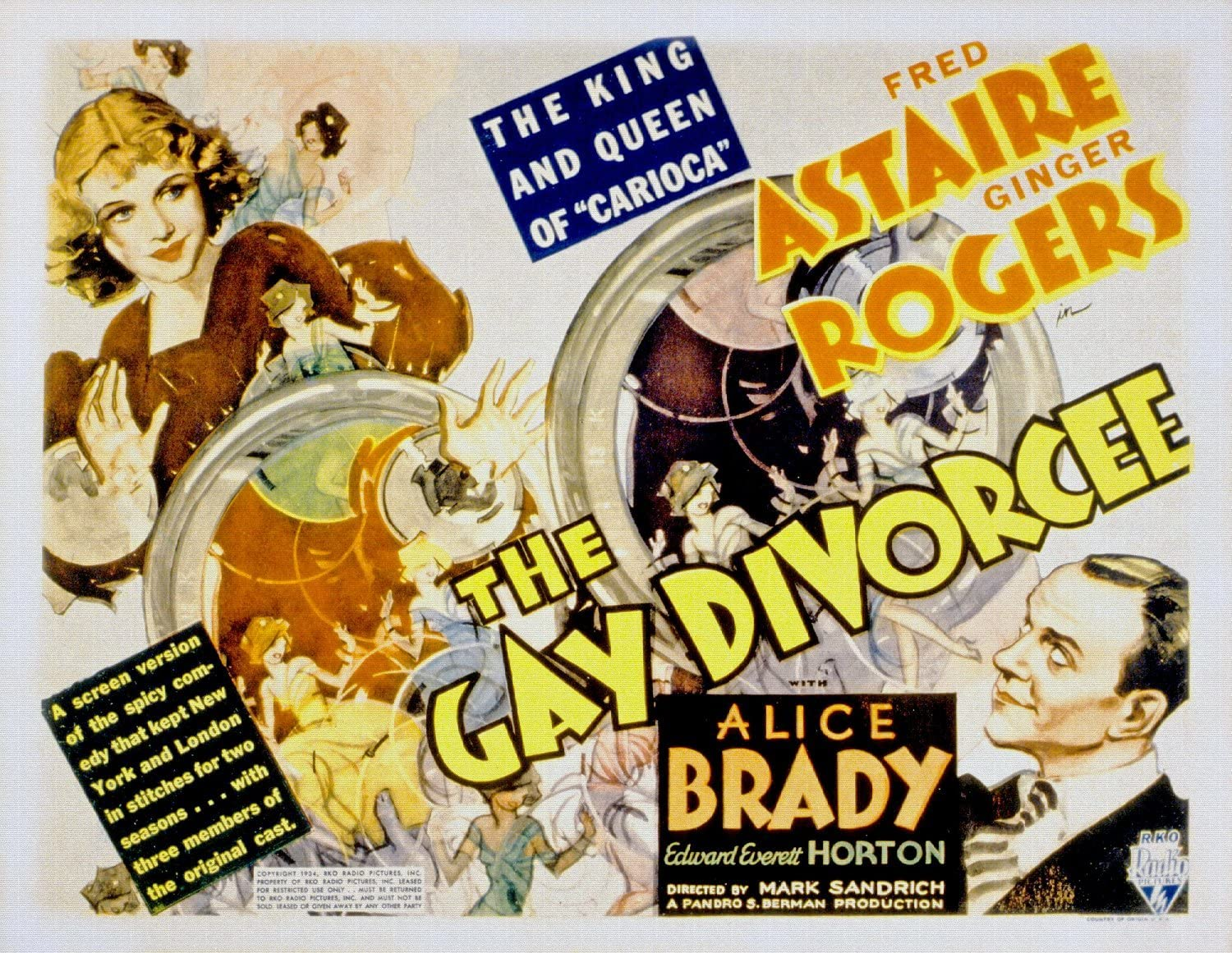 ODSAN The Gay Divorcee, Ginger Rogers, Fred Astaire, 1934 ...