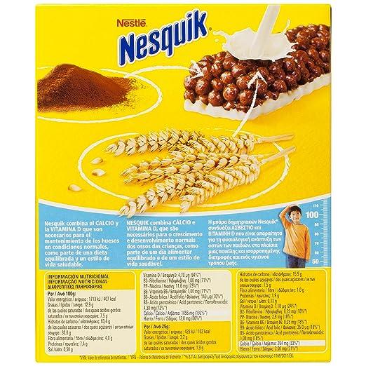 Cereales Nestlé Nesquik Barritas con Cacao - 6 x 25 gr: Amazon.es: Alimentación y bebidas
