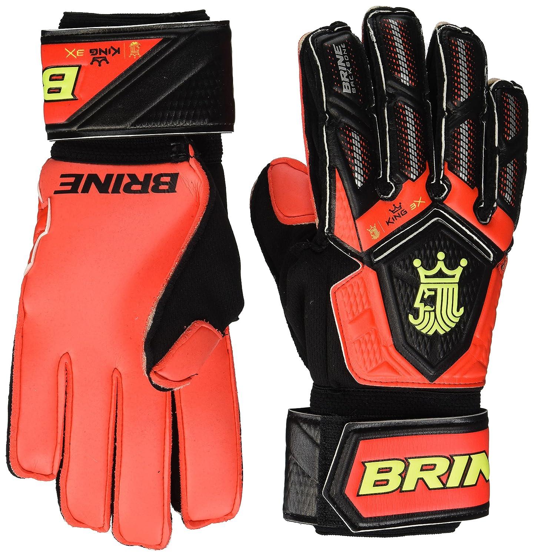Brine ゴールキーパー グローブ 王様 試合 3倍 サッカー ゴールキーパー用グローブ 指を守る 背骨保護 B01JZU2062 6 フレーム(Flame) フレーム(Flame) 6