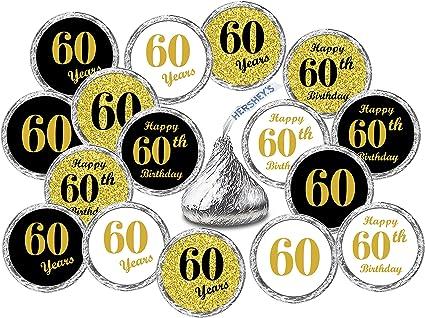 Amazon.com: 60 cumpleaños Kisses pegatinas, (juego de 324 ...
