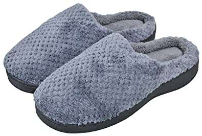 Women's House Slippers Winter Warm Non-Slip Memory Foam Indoor Shoes