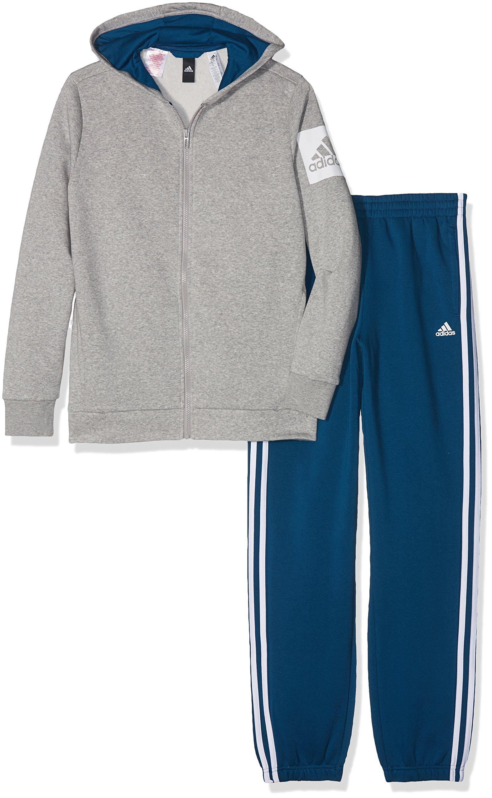 adidas Boys Tracksuit Kids Athletics Hojo Training Running Blue Gym New (152/11-12 Years) by adidas (Image #1)