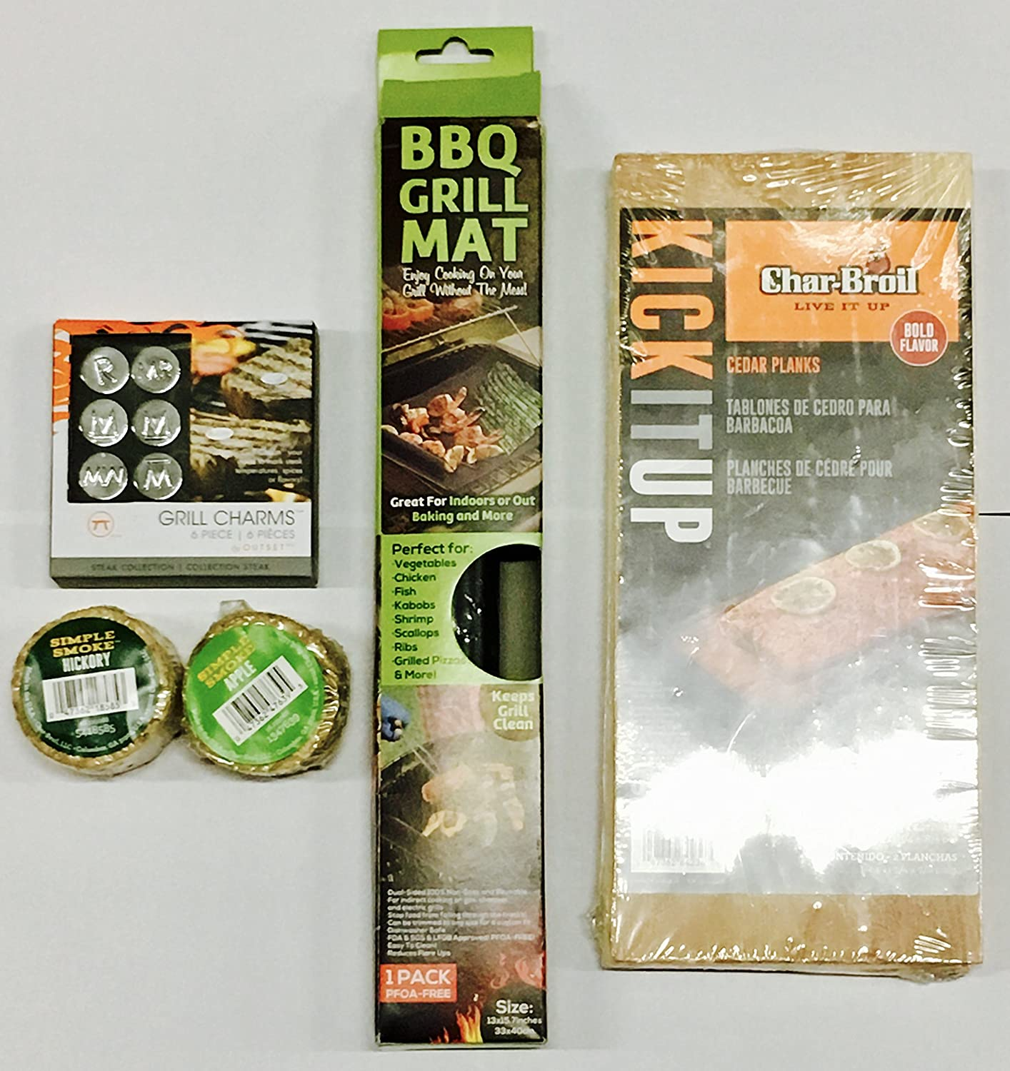 Amazon.com : Camouflage BBQ Apron with Toolset, Accessories - BBQ Grill Mat, Charbroil Planks, Grill Charms, Wood Chip Pucks, Bundle : Garden & Outdoor