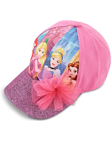c6e4c795 Disney Little Girls Princess Characters Cotton Baseball Cap, Pink, Age 4-7