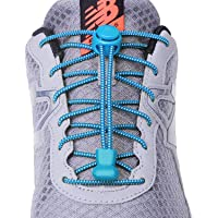 No tie elastic reflective shoe laces for Kids and Adults, Best Lock Shoe laces for Running and Walking Shoes(3 pairs)
