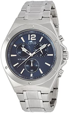 Lotus Reloj Cronógrafo para Hombre de Cuarzo con Correa en Acero Inoxidable 10118/3: Lotus: Amazon.es: Relojes