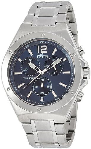 Lotus Reloj Cronógrafo para Hombre de Cuarzo con Correa en Acero Inoxidable 10118/3: Amazon.es: Relojes