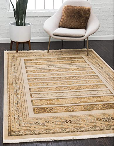Unique Loom Fars Collection Tribal Modern Casual Ivory Area Rug 10' 6 x 16' 5 - a good cheap living room rug