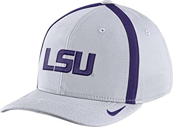 low cost c4ed1 ddd3d ... greece nike mens lsu tigers white aerobill swoosh flex classic99  football sideline hat bd396 dfcdd