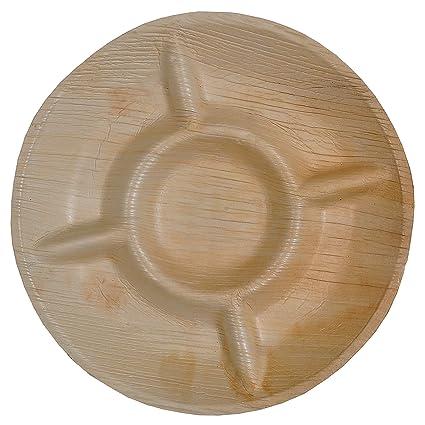 """Verde Atmos 10 (10 """"-5 compartimento bandeja de comida, biodegradables y"""