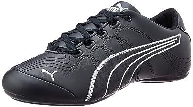 a0c4a882a7d Puma Women s Soleil v2 Comfort Fun Black and Puma Silver Sneakers - 6  UK India