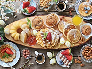 300 Large Piece Puzzle, Beautiful Breakfast Jigsaw Puzzle