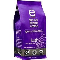 Ethical Bean Fair Trade Organic Coffee, Lush Medium Dark Roast, Ground Coffee - 227g (8oz) Bag