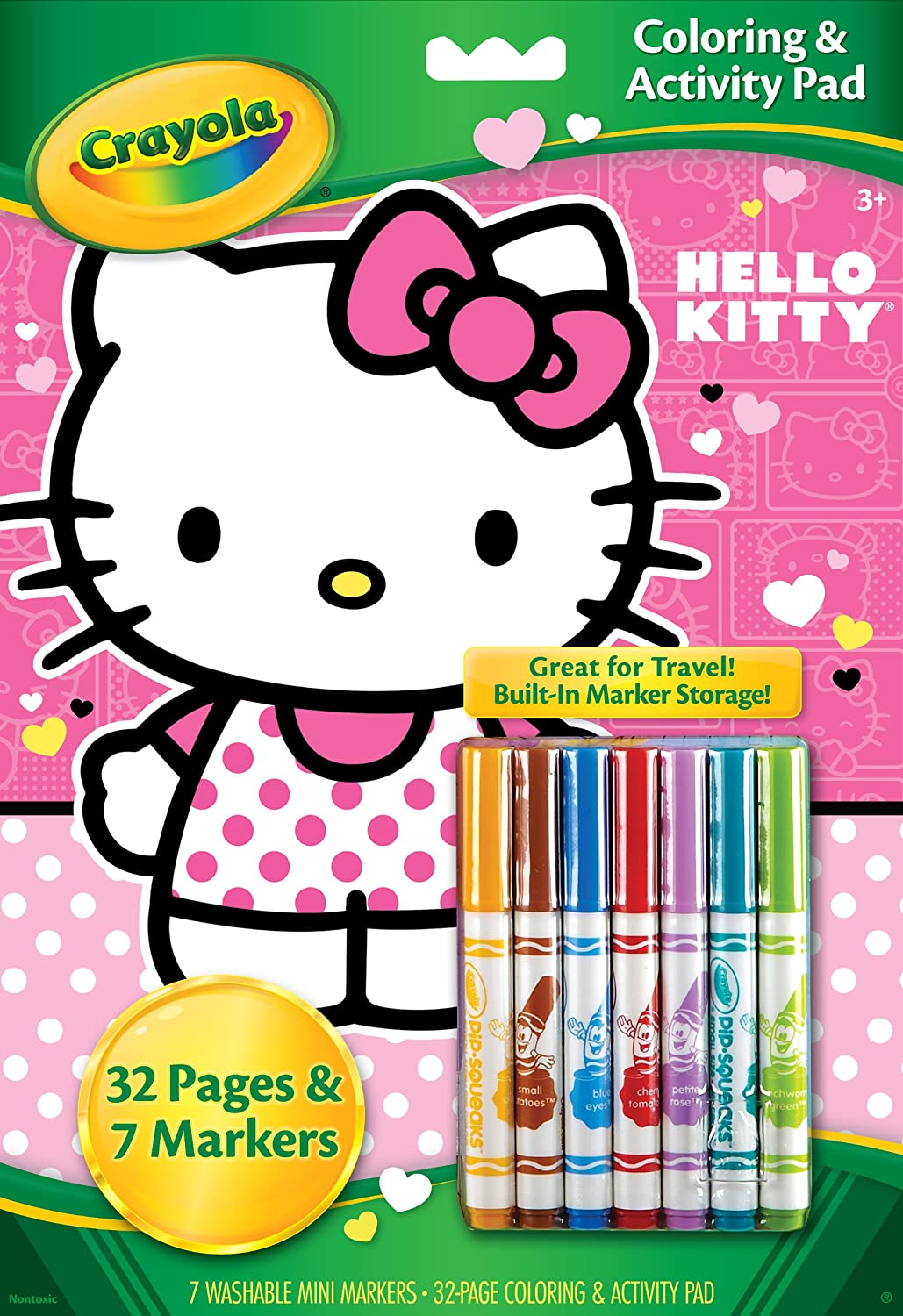 amazoncom crayola hello kitty coloring and activity pad with markers toys games