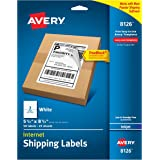 "Avery Internet Shipping Labels with TrueBlock Technology for Inkjet Printers 5-1/2"" x 8-1/2"", Pack of 50 (8126)"