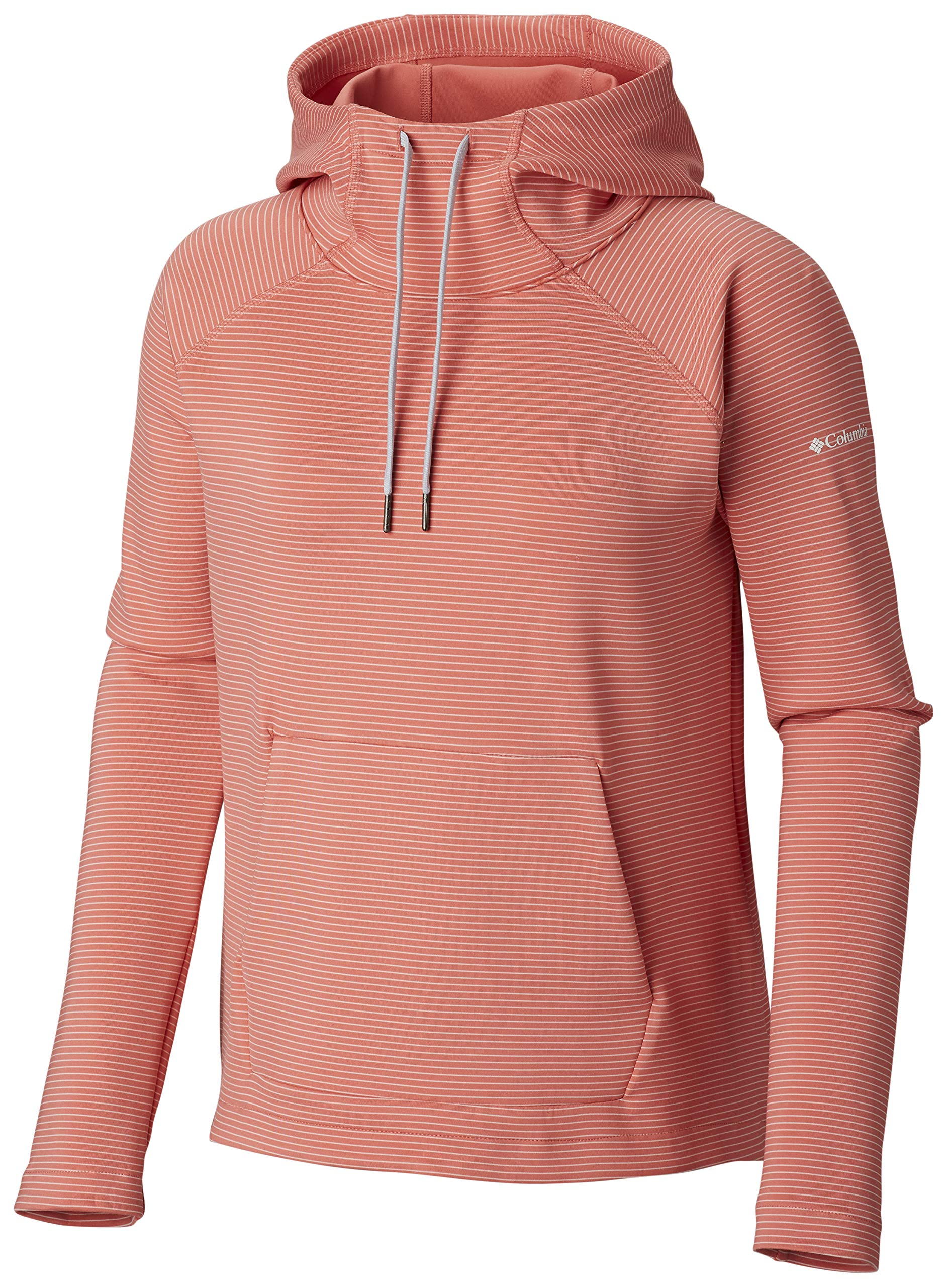 Columbia Women's Bryce Canyon Hoodie,Coral Bloom Stripe,Large by Columbia
