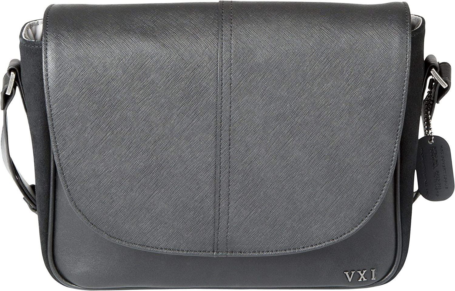 5.11 Tactical Women's Charlotte Crossbody Bag, Leather and Suede Exterior, YKK Zippers, Black, Style 56343