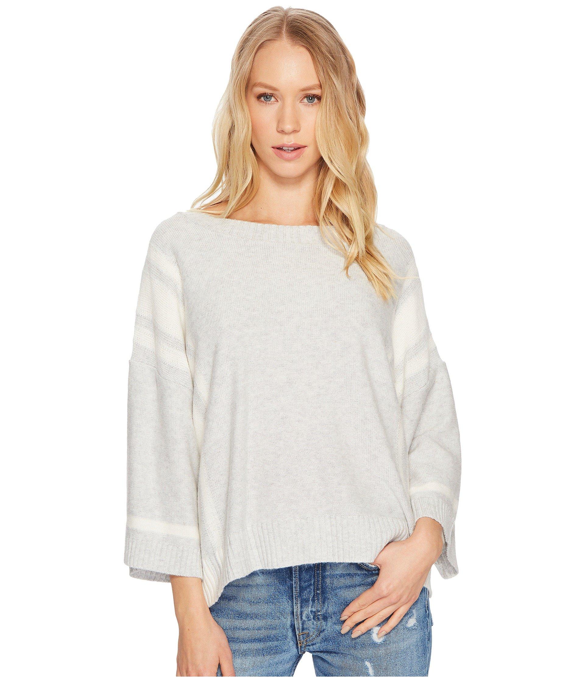 Splendid Women's Stripe Pullover, Light Heather Gray, M