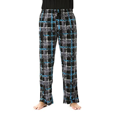 #followme Ultra Soft Fleece Men's Plaid Pajama Pants With Pockets