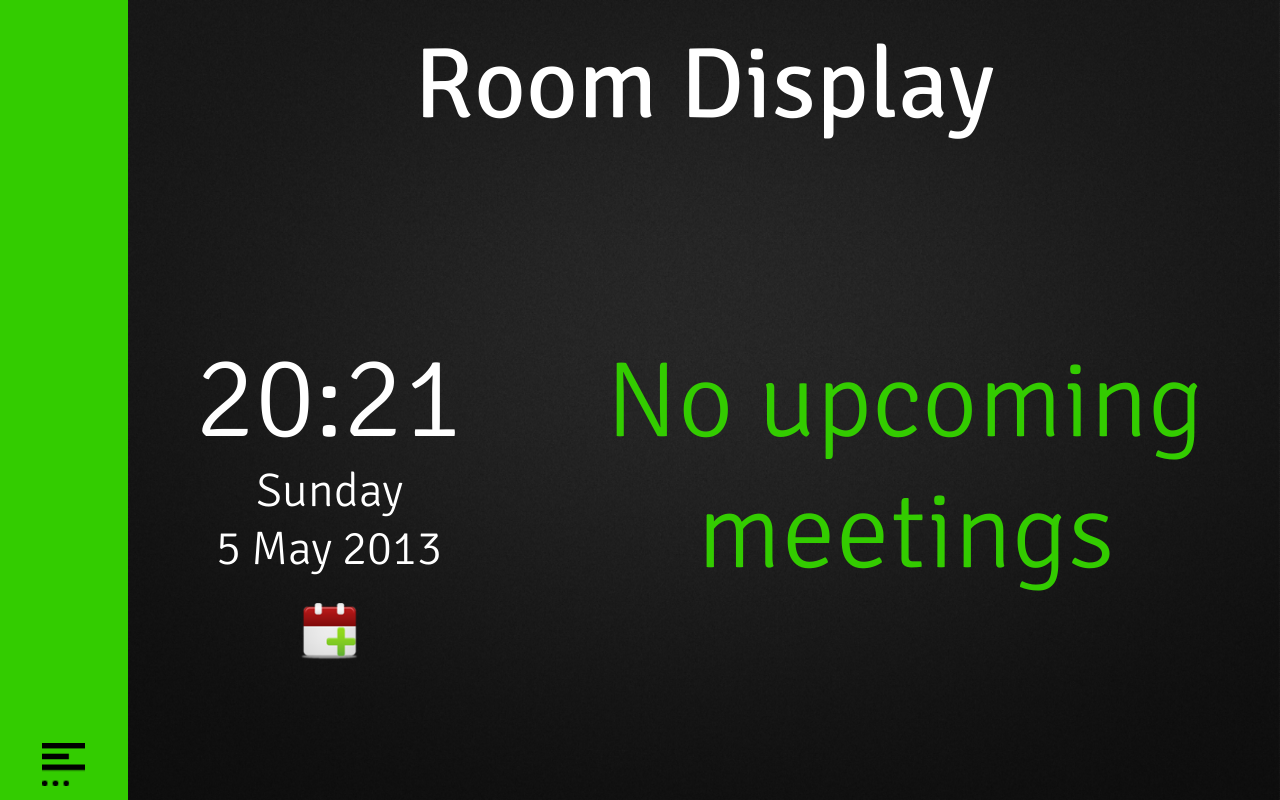 Room Display 3: Book a Meeting