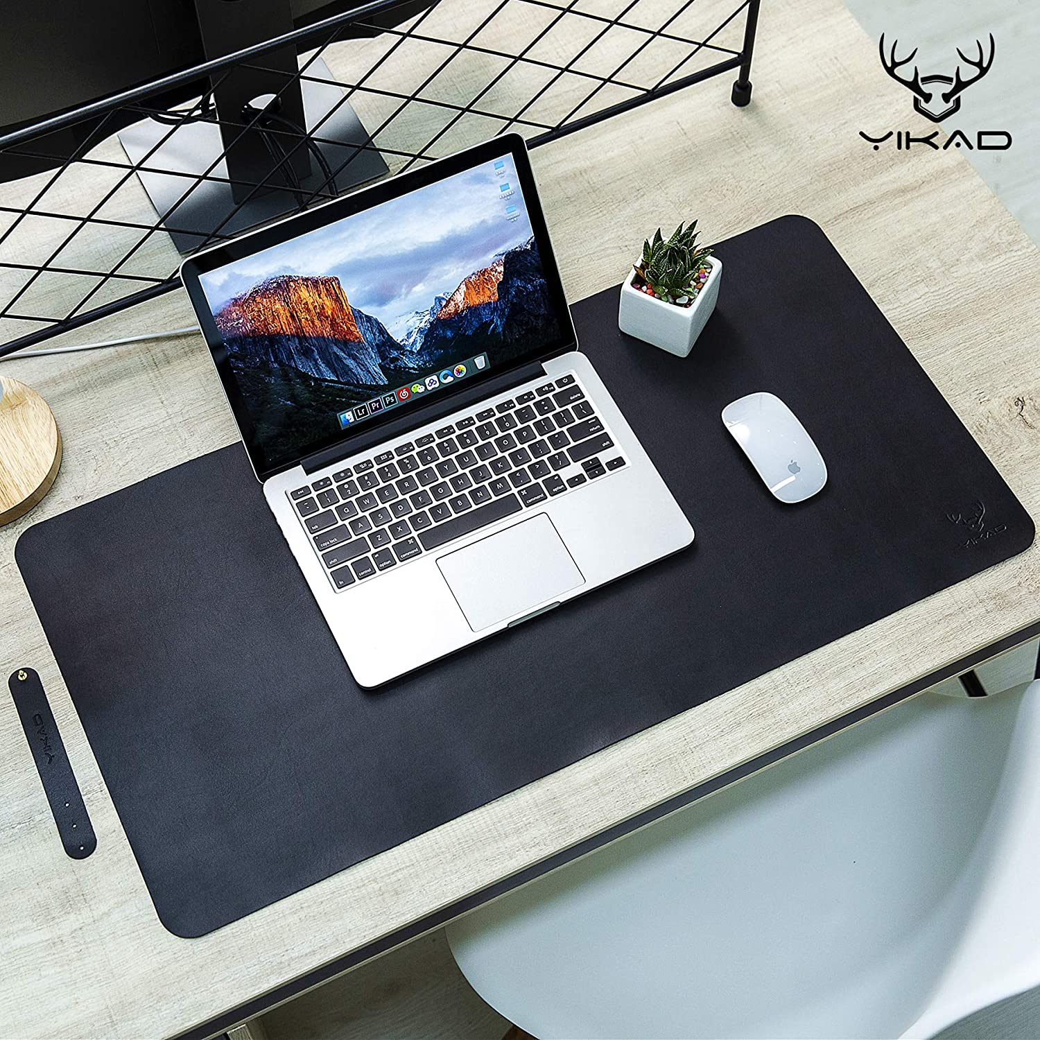"""Yikda Extended leather Mouse Pad / Mat, Large Office Writing Gaming Desk Computer leather Mat Mousepad,Waterproof,Ultra Thin 1.2mm - 31""""x15.5"""""""