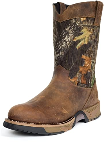 """Men's 9"""" Aztec Waterproof Camo Pull-on Boots-2871 (M8)"""