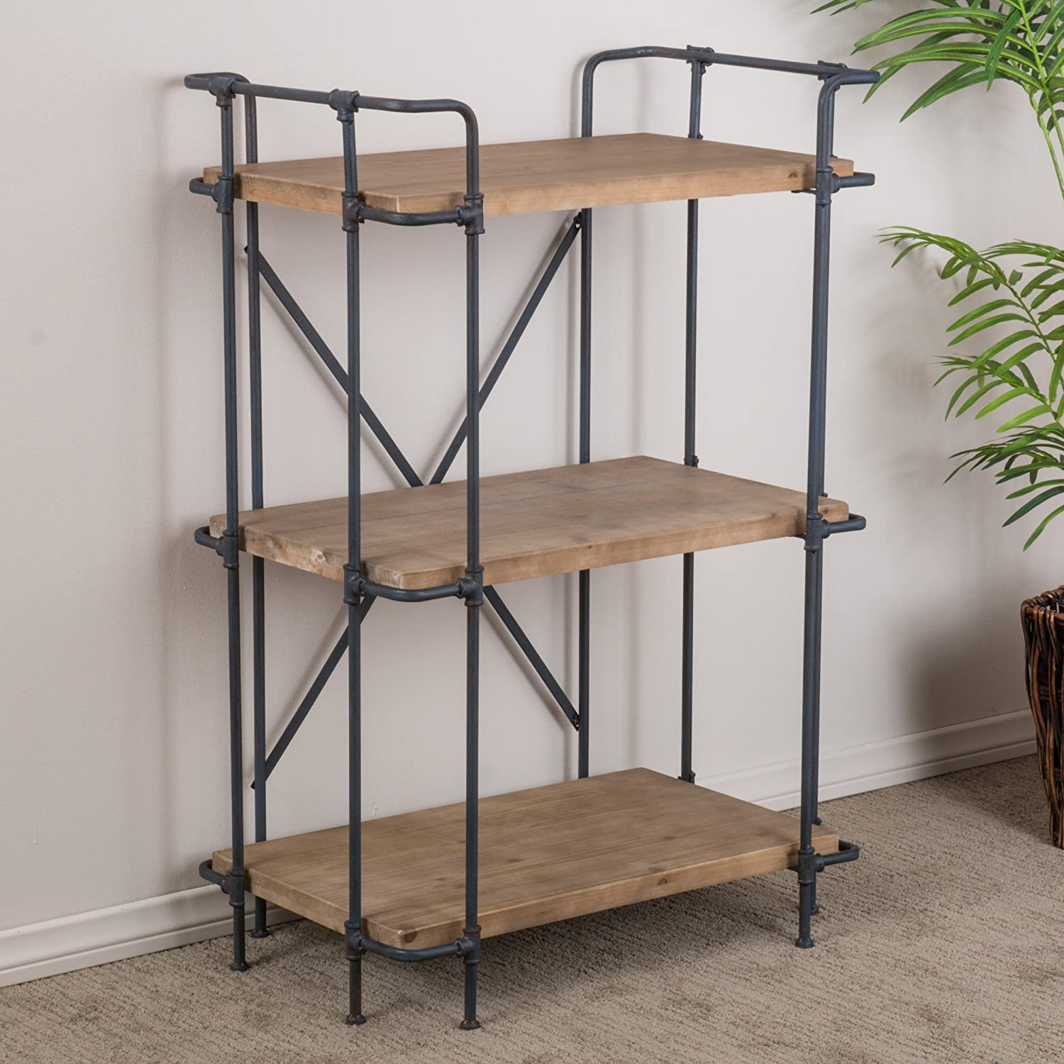 amazoncom great deal furniture denise austin home brooklyn 3 shelf bookcase kitchen dining - Overstock Bookshelves