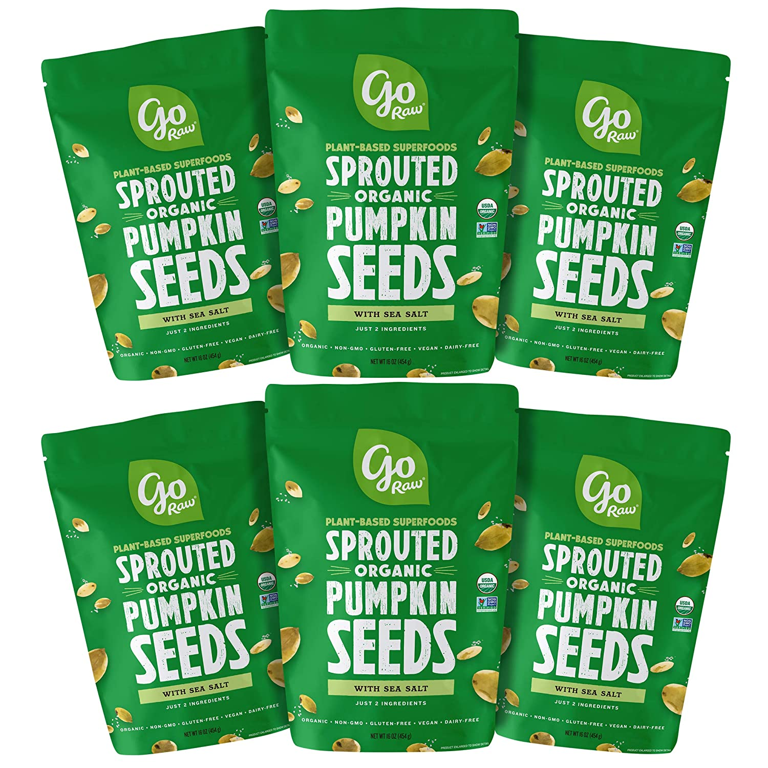 Go Raw Sprouted Pumpkin Seeds (Pack of 6)