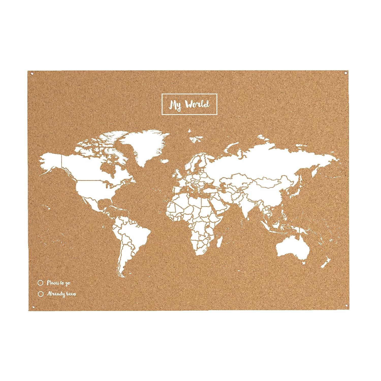 Miss wood 8436563400032 map l mapa del mundo de corcho natural miss wood 8436563400032 map l mapa del mundo de corcho natural blanco amazon hogar gumiabroncs Image collections