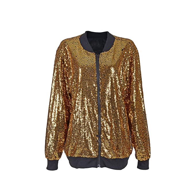 f96c628b6 BFD One Sparkly Sequin Long Sleeve Zip Front Light Weight Bomber Jacket  Blazer Jacket For Men Or Women. Available In Different Sizes and Colours ...
