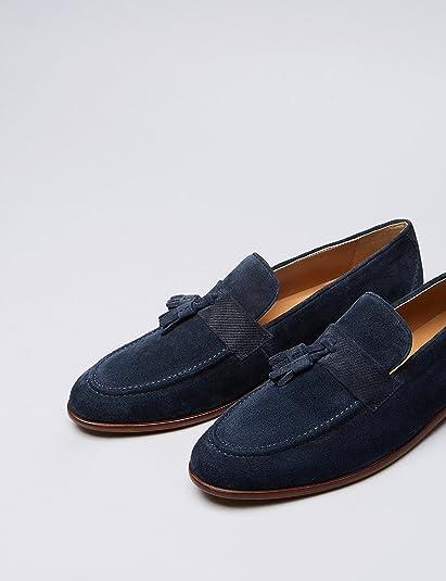Mocasines Borlas Texturizado en Piel para Hombre: Amazon.es: Zapatos y complementos