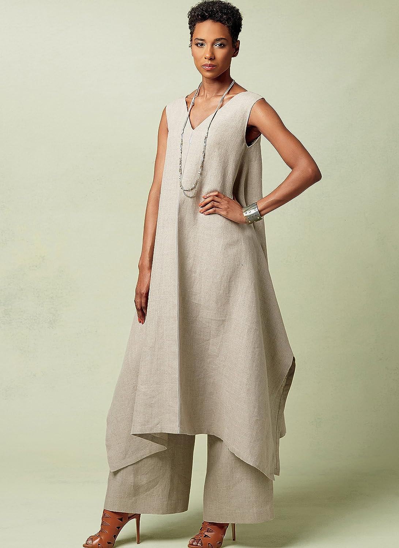 Vogue Patrones de Costura para túnicas y Pantalones,, tamaños 14 ...