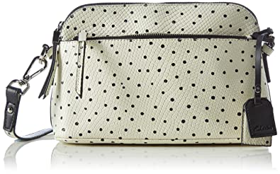Misterton Chic, Womens Shoulder Bag, Black (Black White Lea), 28x17x11 cm (B x H x T) Clarks