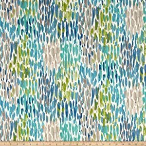 Kelly Ripa Home 0537505 Indoor/Outdoor Make It Rain Cerluean Fabric by the Yard