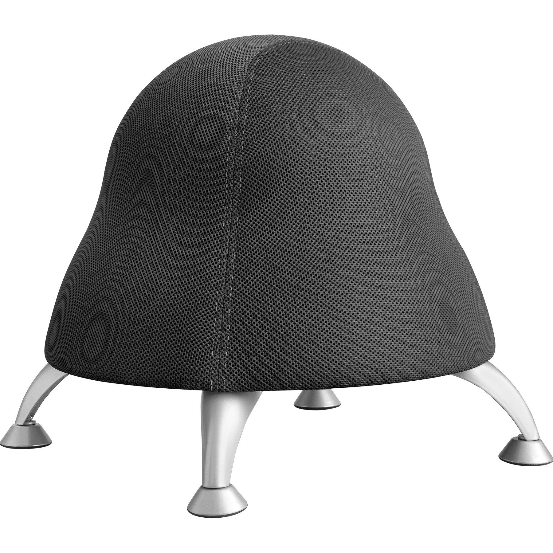 Runtz Ergonomic Children's Balance Ball Chair in Licorice Black Fabric