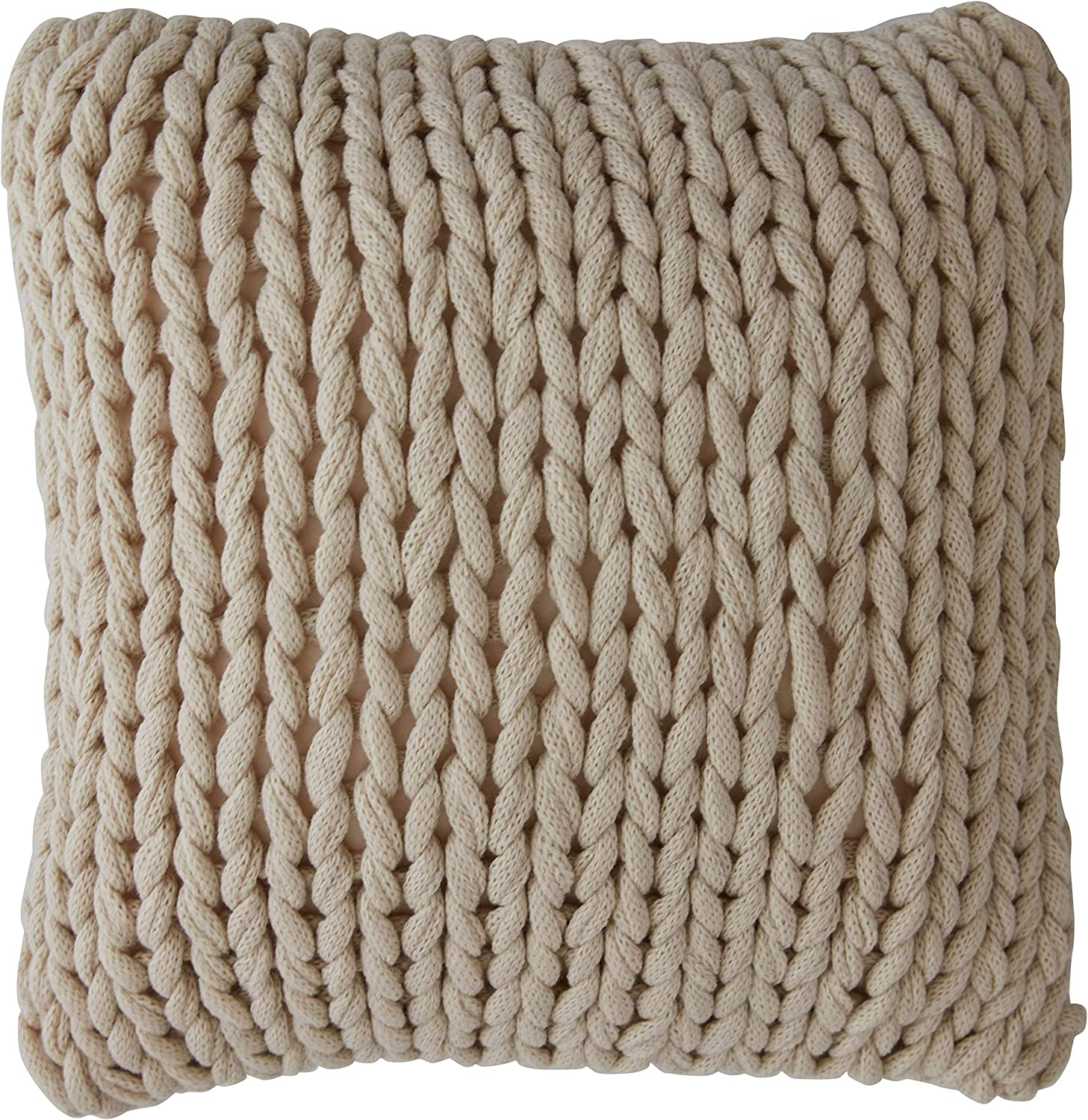 Cheer Collection Chunky Cable Knit Throw Pillow, 18