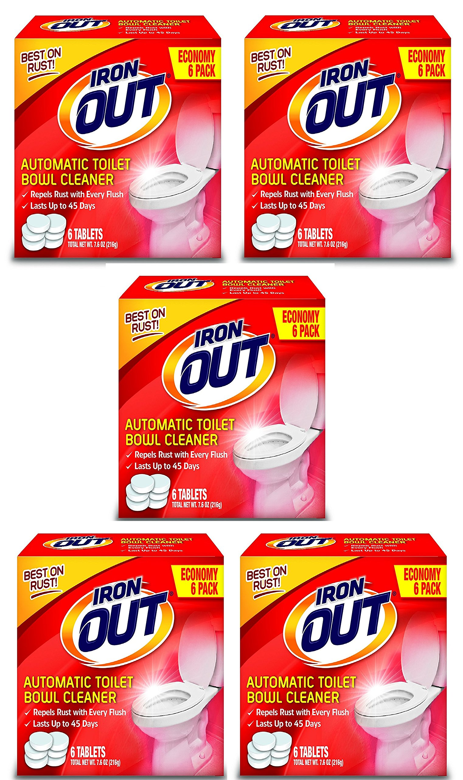 Iron OUT Automatic Toilet Bowl Cleaner (5 pack)
